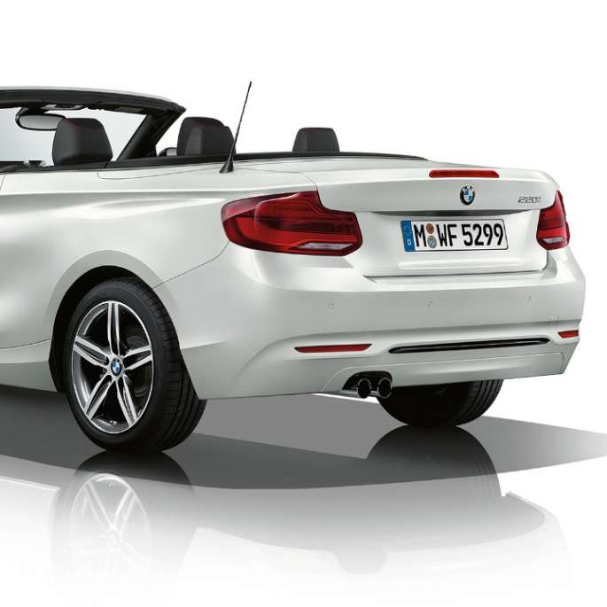 BMW 2 Series Convertible, Model Sport Line three-quarter rear shot